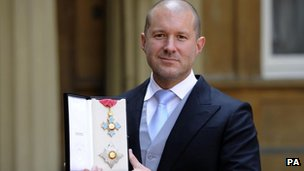 Jonathan Ive with his Knight Commander medal