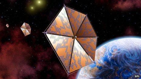 Solar sail starship