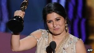 Sharmeen Obaid-Chinoy receives Oscar for best documentary