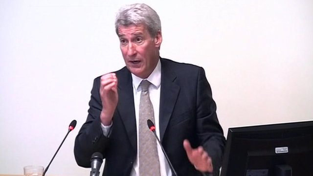 Jeremy Paxman at the Leveson Inquiry