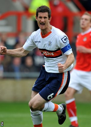 Luton's Georke Pilkington
