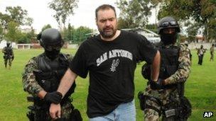 Navy marines arrest alleged drug kingpin Sergio Villarreal