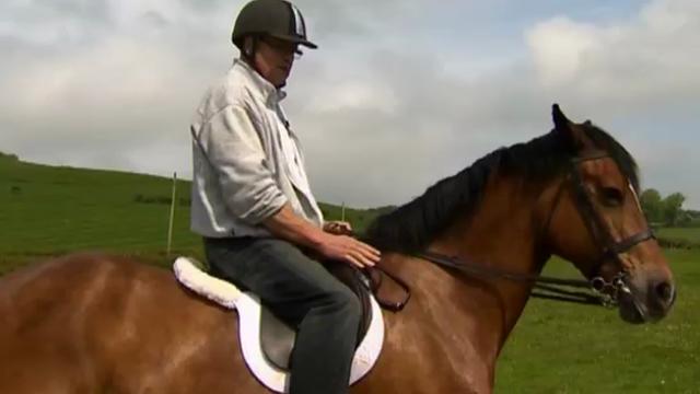 Eric Davies on his horse