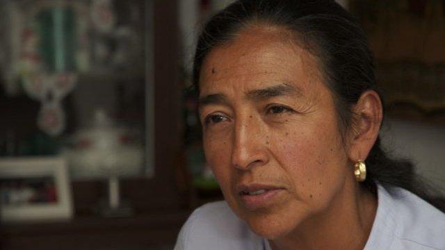 Rosa Isela Caballero Garcia sitting down