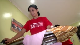 Filipino training to work abroad as a maid