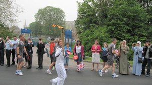 The torch going past King's School