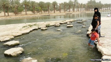 People in the Wadi Hanifah