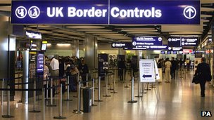 UK Border Control at Heathrow Airport