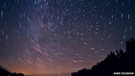 Star trails above Kielder