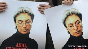 Russian journalist Anna Politkovskaya