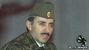Chechen separatist leader Dzhokhar Dudayev