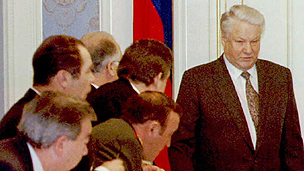 Russian President Boris Yeltsin