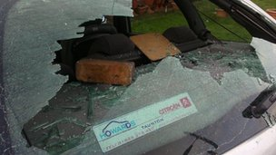 Car window smashed in Ashton Vale