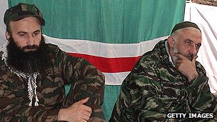 Chechen separatist leaders in January 2000
