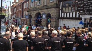 The choir in Bewdley