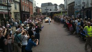 Torchbearing in Leominster