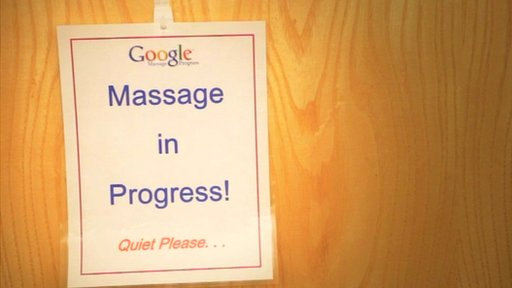 Massage notice at Google