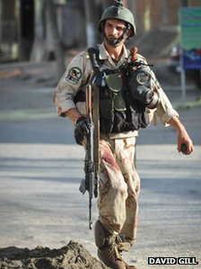 Photo of the wounded Afghan commando