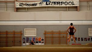 Beth Tweddle training at the City of Liverpool Gymnastics Centre