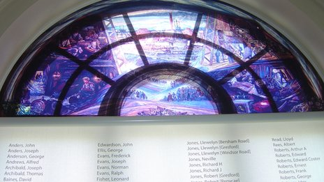The Gresford Window at Llay Miners' Heritage Centre