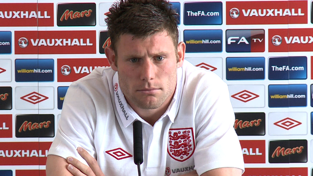 England midfielder James Milner