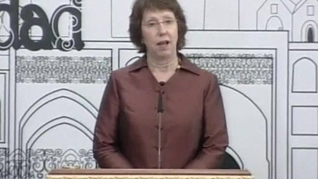 The EU&#039;s foreign policy chief Catherine Ashton