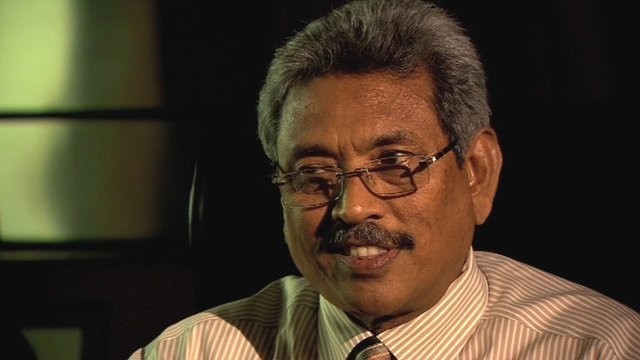 Sri Lankan defence secretary Gotabhaya Rajapaksa