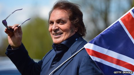 UK's Eurovision entrant Englebert Humperdinck