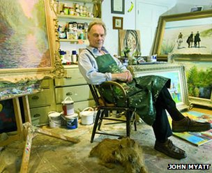 John Myatt in his studio