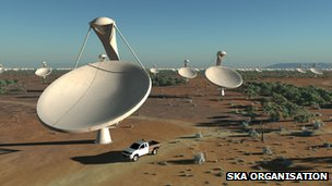 Artist's impression of SKA