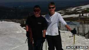 Skiers in Cairngorms