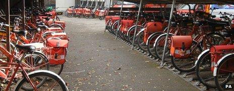 Postal workers' bike park