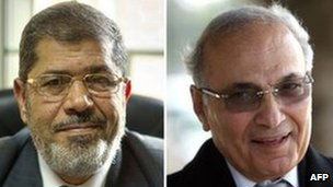Mohammed Mursi and Ahmed Shafiq