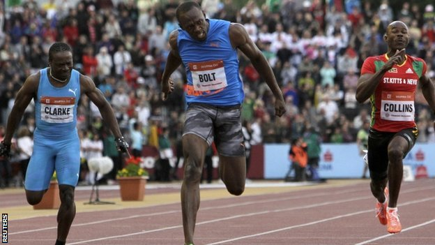 Usain Bolt labours to victory