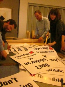 Republic making placards