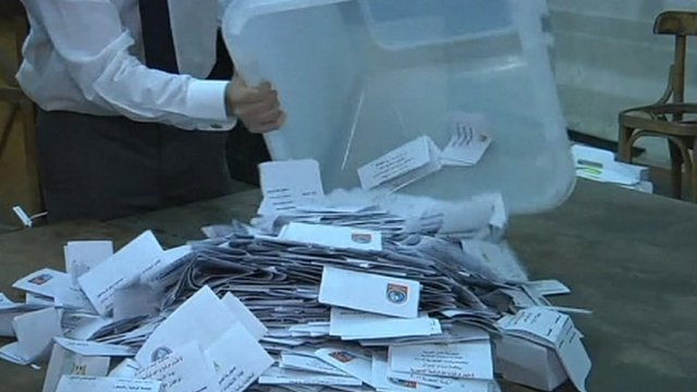 Votes are counted