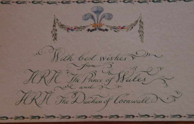 Christmas card from HRH Prince of Wales