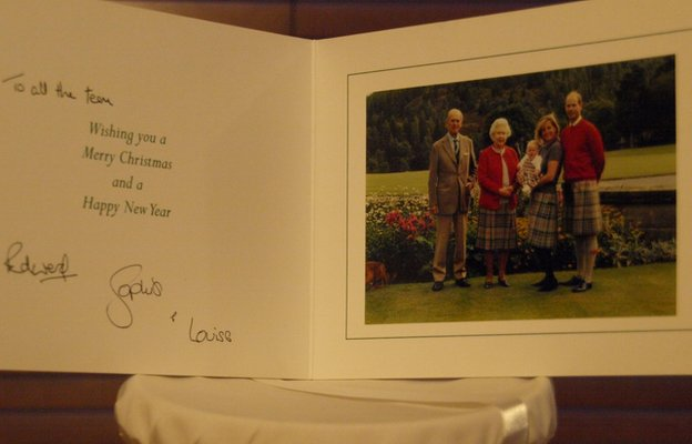 Christmas card from Her Majesty the Queen