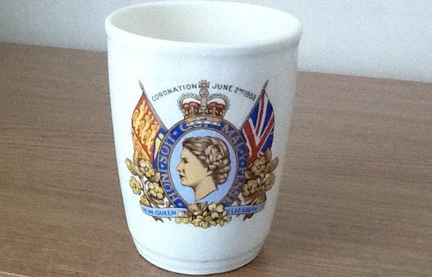Coronation mug dated 1953