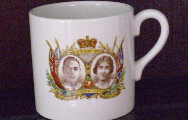 Coronation mug for King George VI