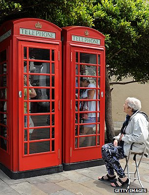 British-style phone booths