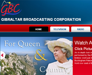 Gibraltar Broadcasting Corporation front page