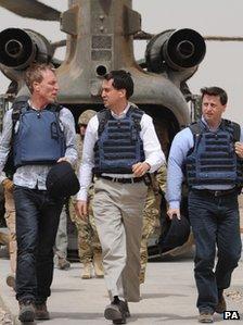Jim Murphy, Ed Miliband and Douglas Alexander