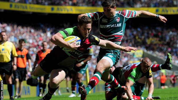Tom Williams scores Harlequins&#039; first try