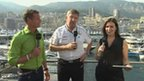 David Coulthard, Ross Brawn and Lee McKenzie