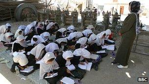 Girls school in Kabul (2008 file image)