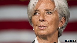 IMF head Christine Lagarde (file image)