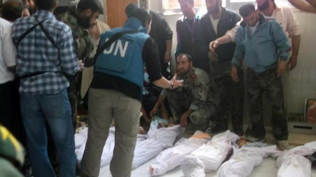 Syria condemned for Houla massacre and shelling by UN