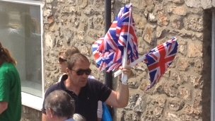 Flag seller