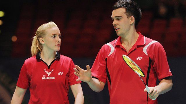 British badminton mixed doubles pair Imogen Bankier & Chris Adcock